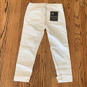 J.Crew Cropped Matchstick White Jeans, brand new